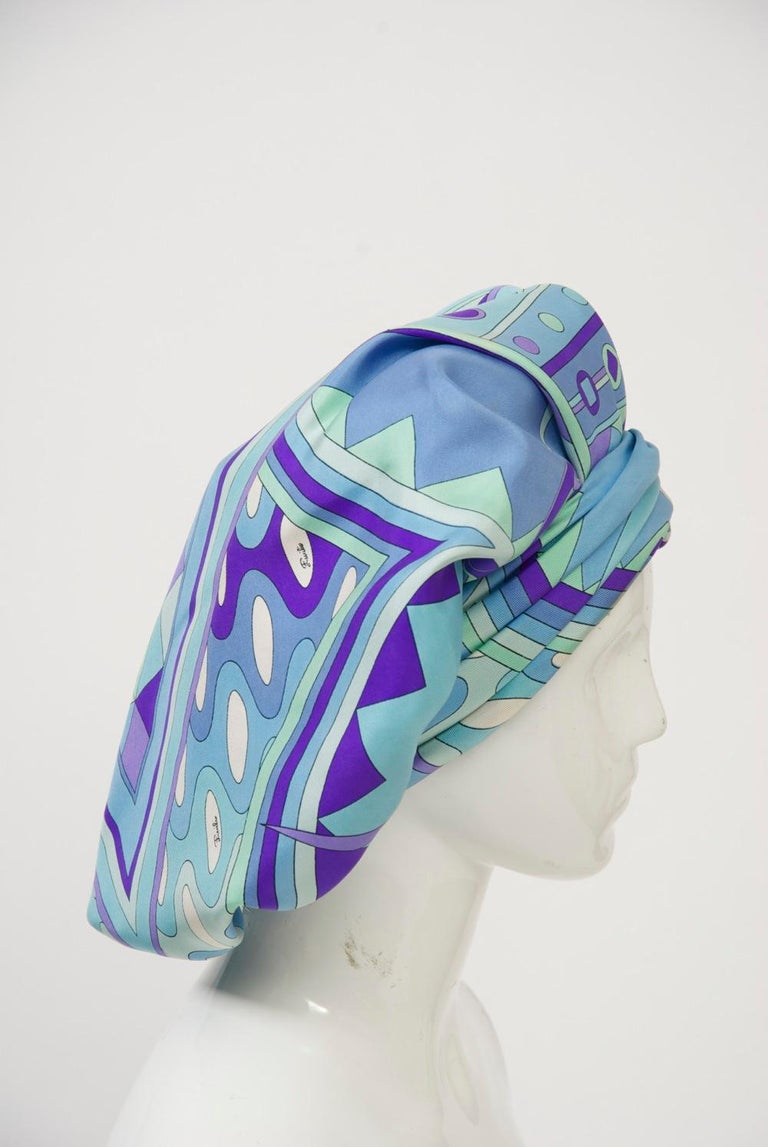 Blue Pucci Hat by Emme For Sale