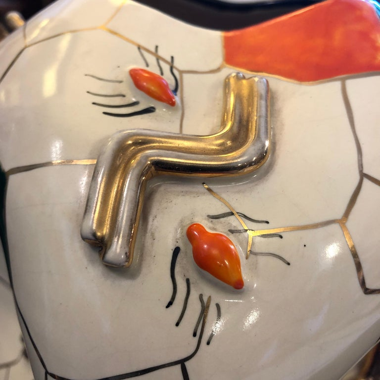 Pucci Iconic Cubic Spider Ceramic Vase Made in Italy in 1952 For Sale 5
