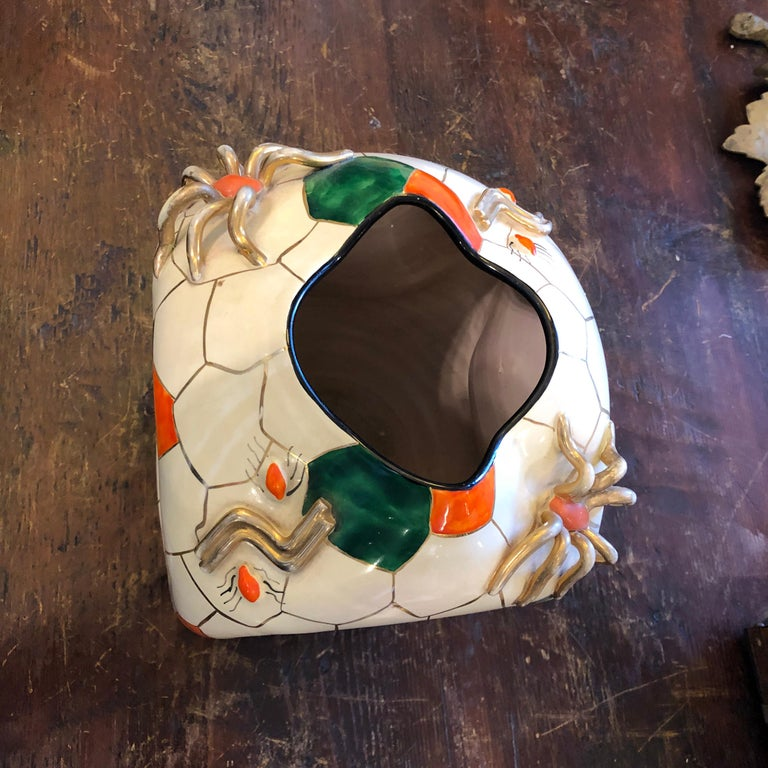 Italian Pucci Iconic Cubic Spider Ceramic Vase Made in Italy in 1952 For Sale