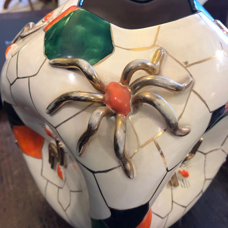 Pucci Iconic Cubic Spider Ceramic Vase Made in Italy in 1952 For Sale 2