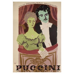 Puccini 1957 Polish A1 Film Poster