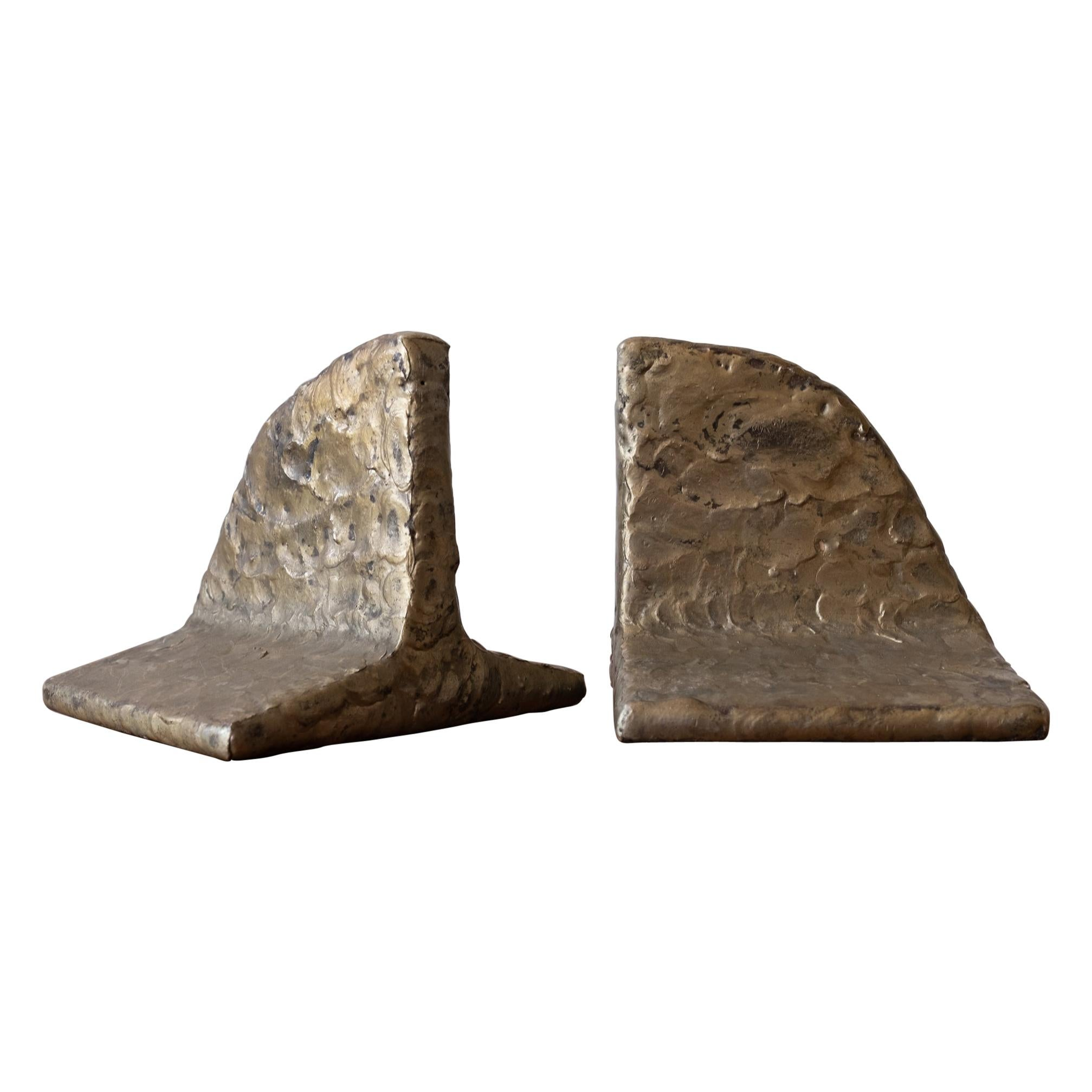 Puddled Bronze Bookends