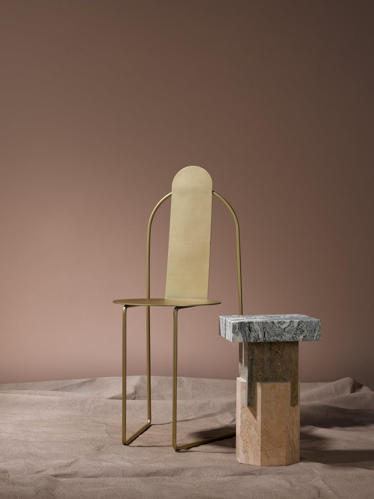 Modern Pudica Chair in Brass by Matter by Pedro Paulo Venzon For Sale