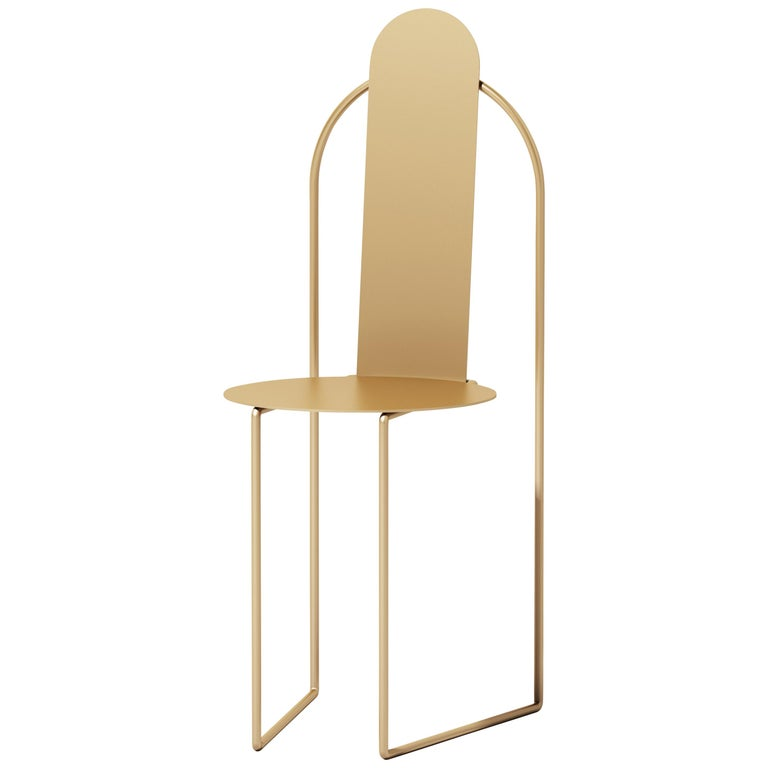 Pudica Chair in Brass by Matter by Pedro Paulo Venzon For Sale