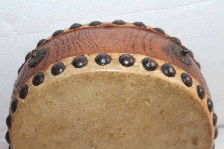 Adirondack Pueblo Indian Children's Drum, 19th Century For Sale