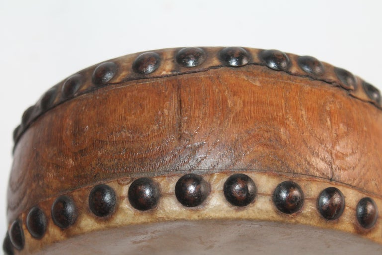 Hand-Crafted Pueblo Indian Children's Drum, 19th Century For Sale
