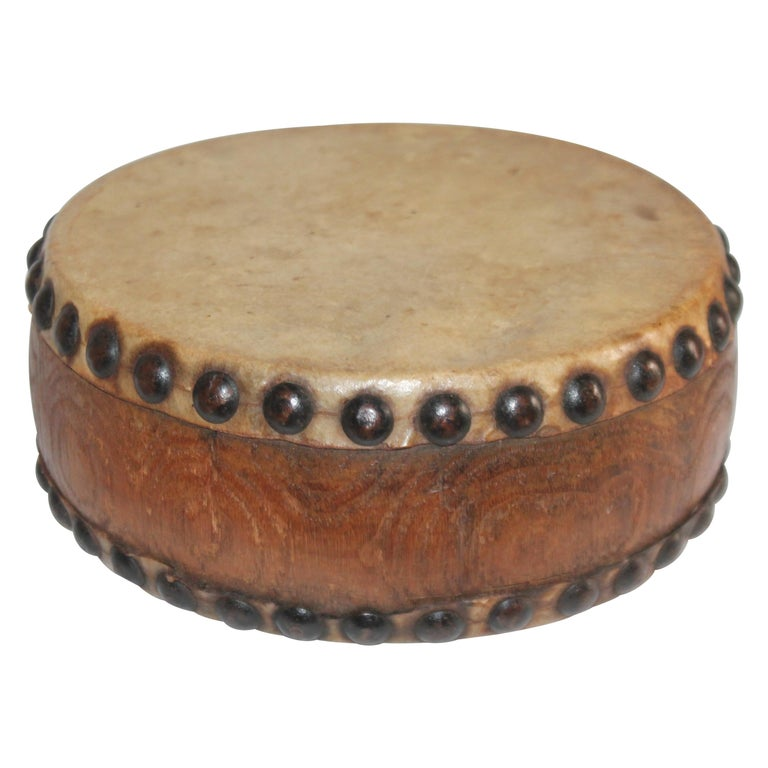 Pueblo Indian Children's Drum, 19th Century For Sale