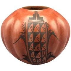 Pueblo Native American Southwestern Puebla Pottery Bowl by Juanita Fragua Jemez
