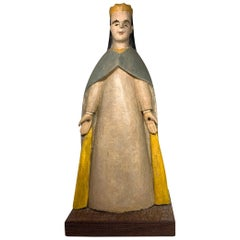 Puerto Rican 19th Century Wood Santo de Palo Carving