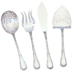 Puiforcat French All Sterling Silver Hors D'oeuvre Dessert, Box, Neoclassical