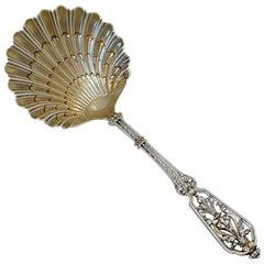 Puiforcat French Sterling Silver 18-Karat Gold Strawberry Spoon Box, Renaissance