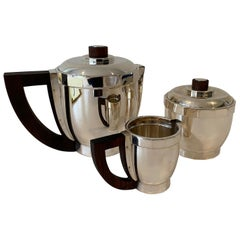 Puiforcat Silverplate Art Deco Coffee Set