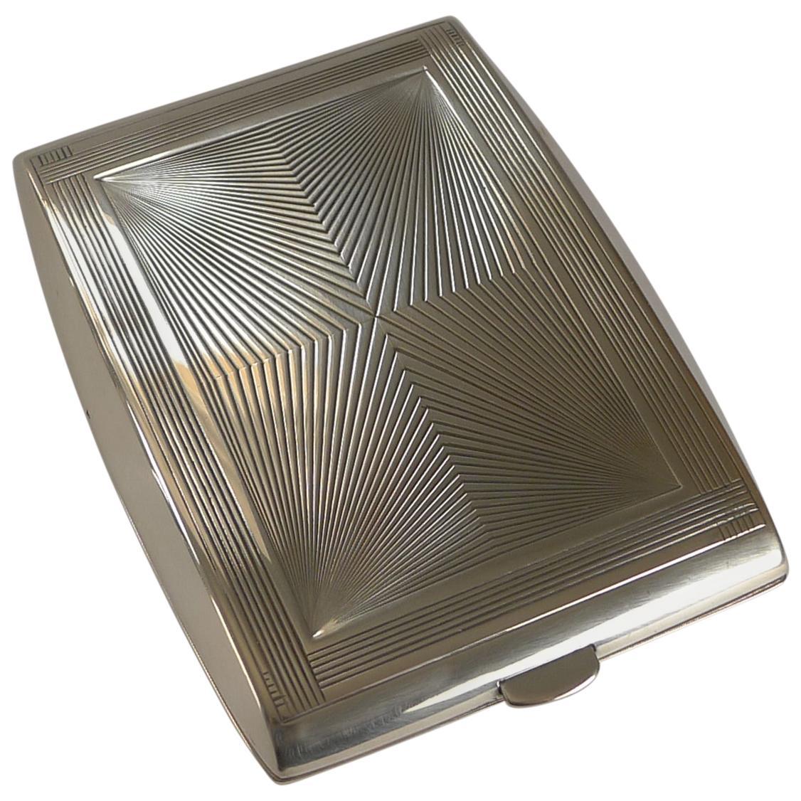 Puiforcat Sterling Silver Cigarette Case, Perfect Business Card Case, c.1930