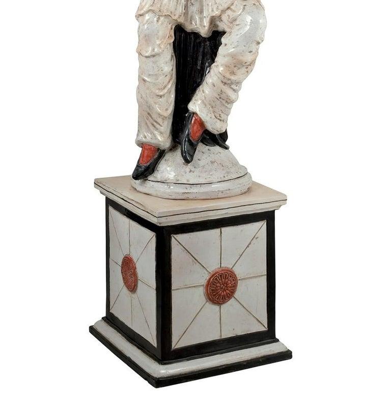 Italian Pulcinella Statue by Ceccarelli For Sale