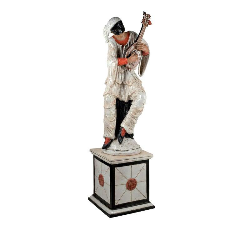 Pulcinella Statue by Ceccarelli For Sale