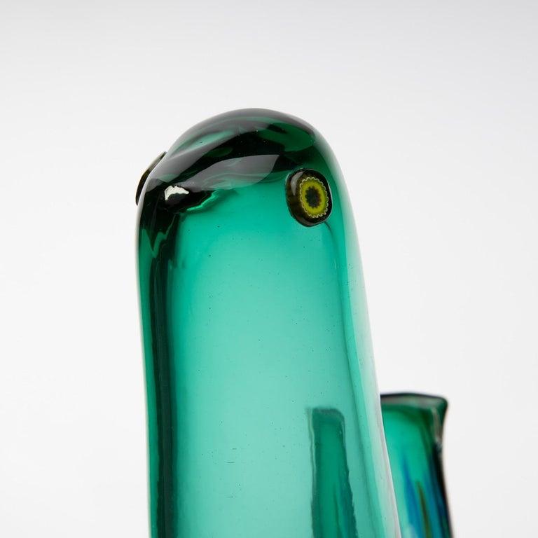 Mid-Century Modern Pulcino Glass Bird, Alessandro Pianon, Vetreria Vistosi Murano, 'Italy' For Sale