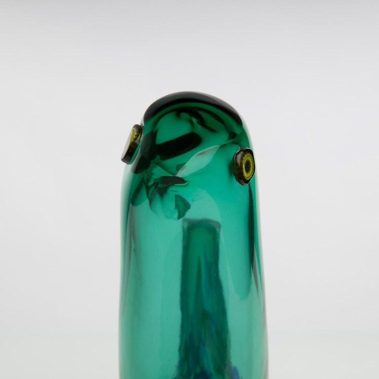 Pulcino Glass Bird, Alessandro Pianon, Vetreria Vistosi Murano, 'Italy' In Good Condition For Sale In Brussels, BE