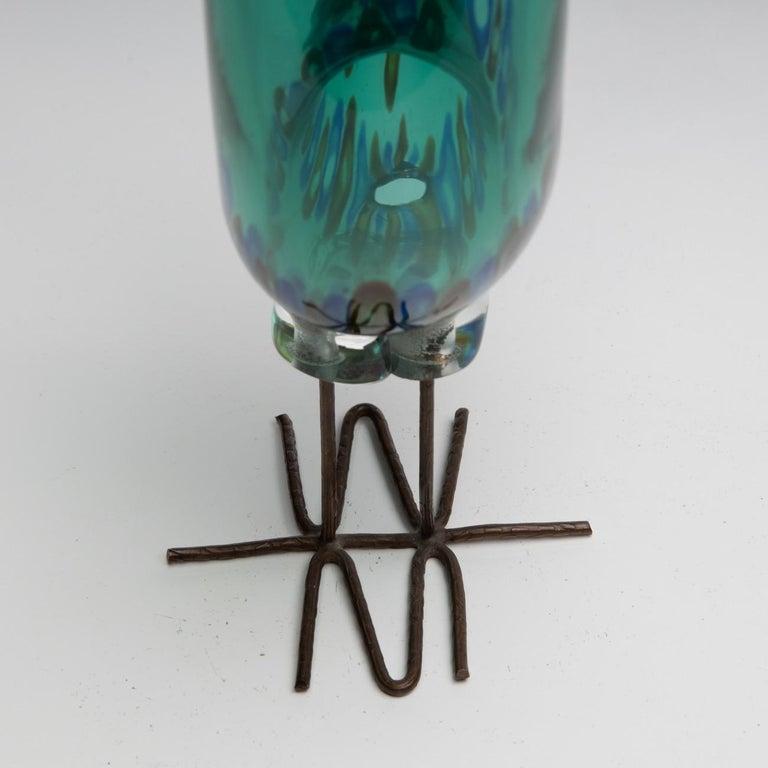 Blown Glass Pulcino Glass Bird, Alessandro Pianon, Vetreria Vistosi Murano, 'Italy' For Sale