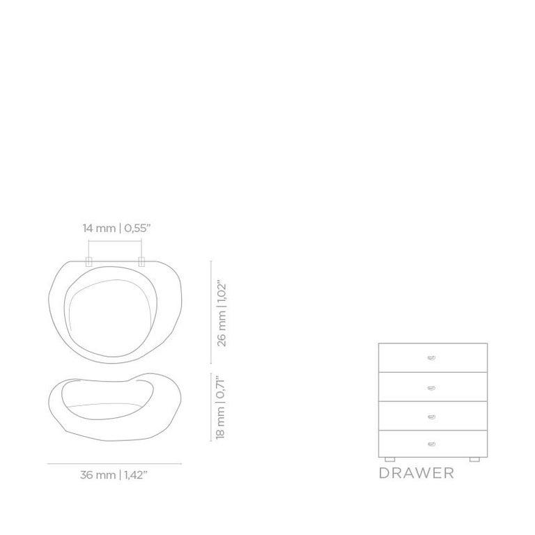Polished Ergos CM3011  Cabinet Hardware  Drawer Handle For Sale