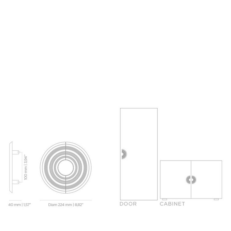 Hendrix TW5003  Door Hardware  Door Pulls In New Condition For Sale In New York, NY