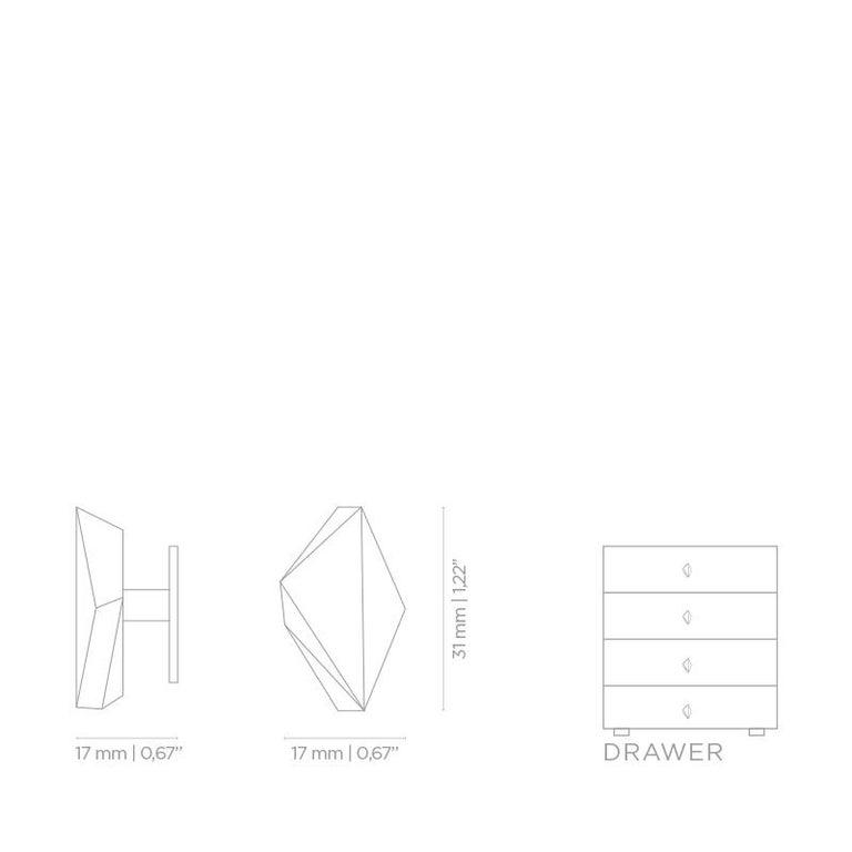 Polished Karat CM3007  Cabinet Hardware  Drawer Handle For Sale