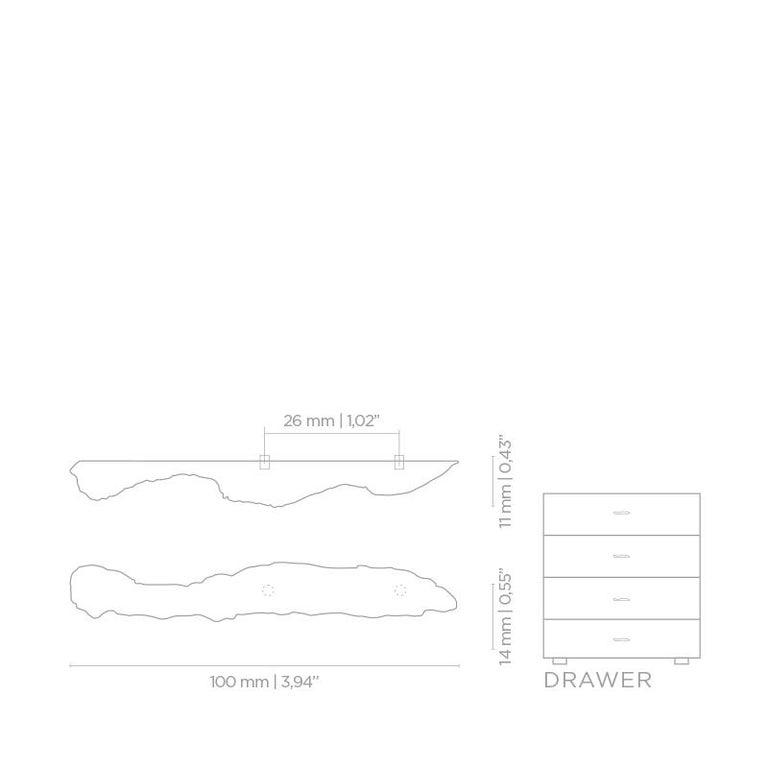 Polished Kesya EA1002  Cabinet Hardware  Drawer Handle For Sale
