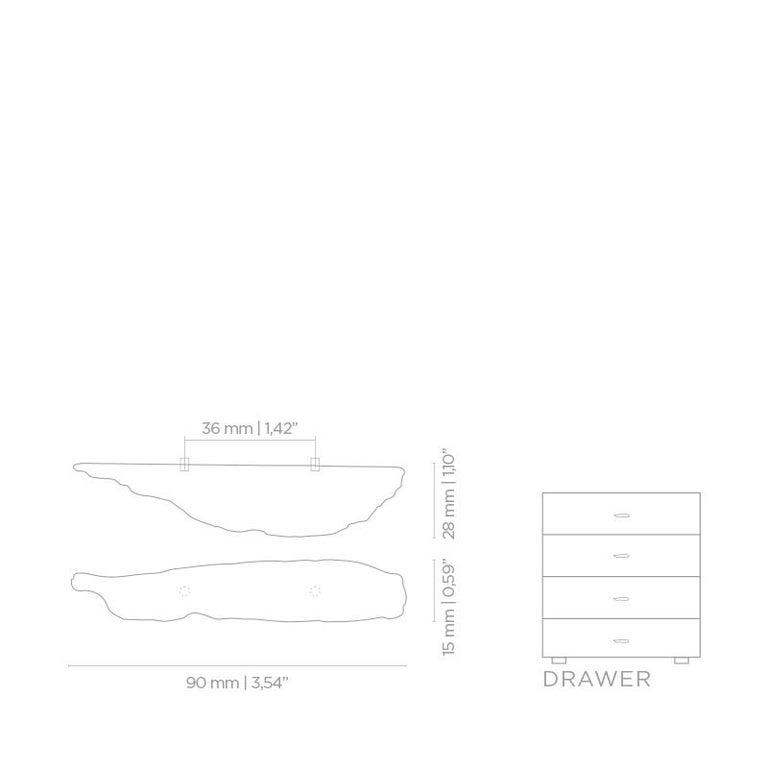 Polished Kesya EA1003  Cabinet Hardware  Drawer Handle For Sale