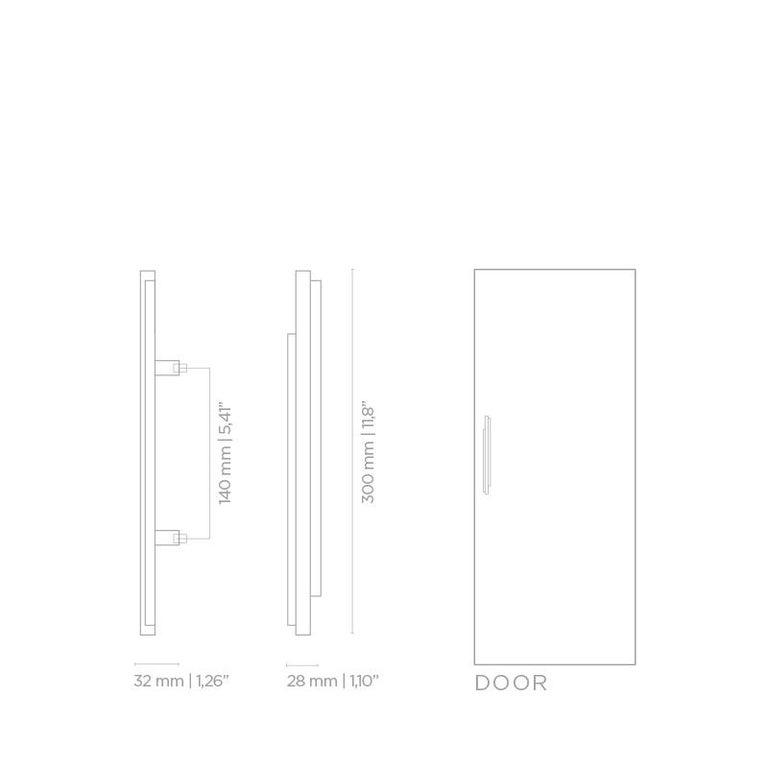 Skyline CM3013  Door Hardware  Door Pulls In New Condition For Sale In New York, NY