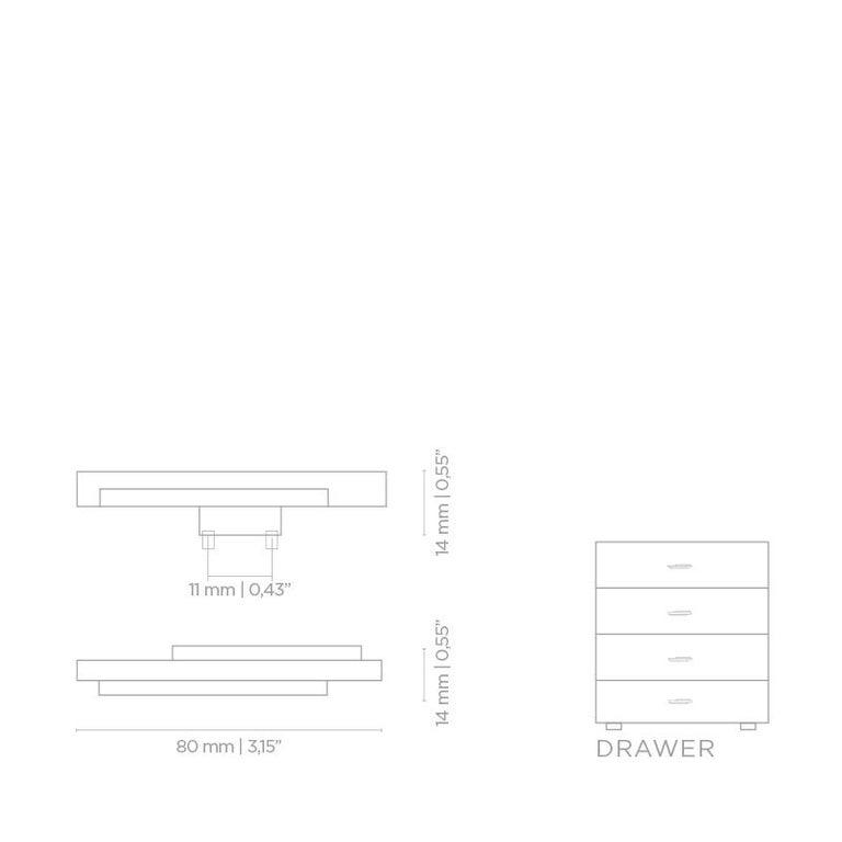 Polished Skyline CM3002  Cabinet Hardware  Drawer Handle For Sale