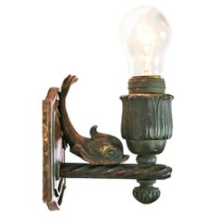 Pullman Train Car Sconce with Fish and Switch