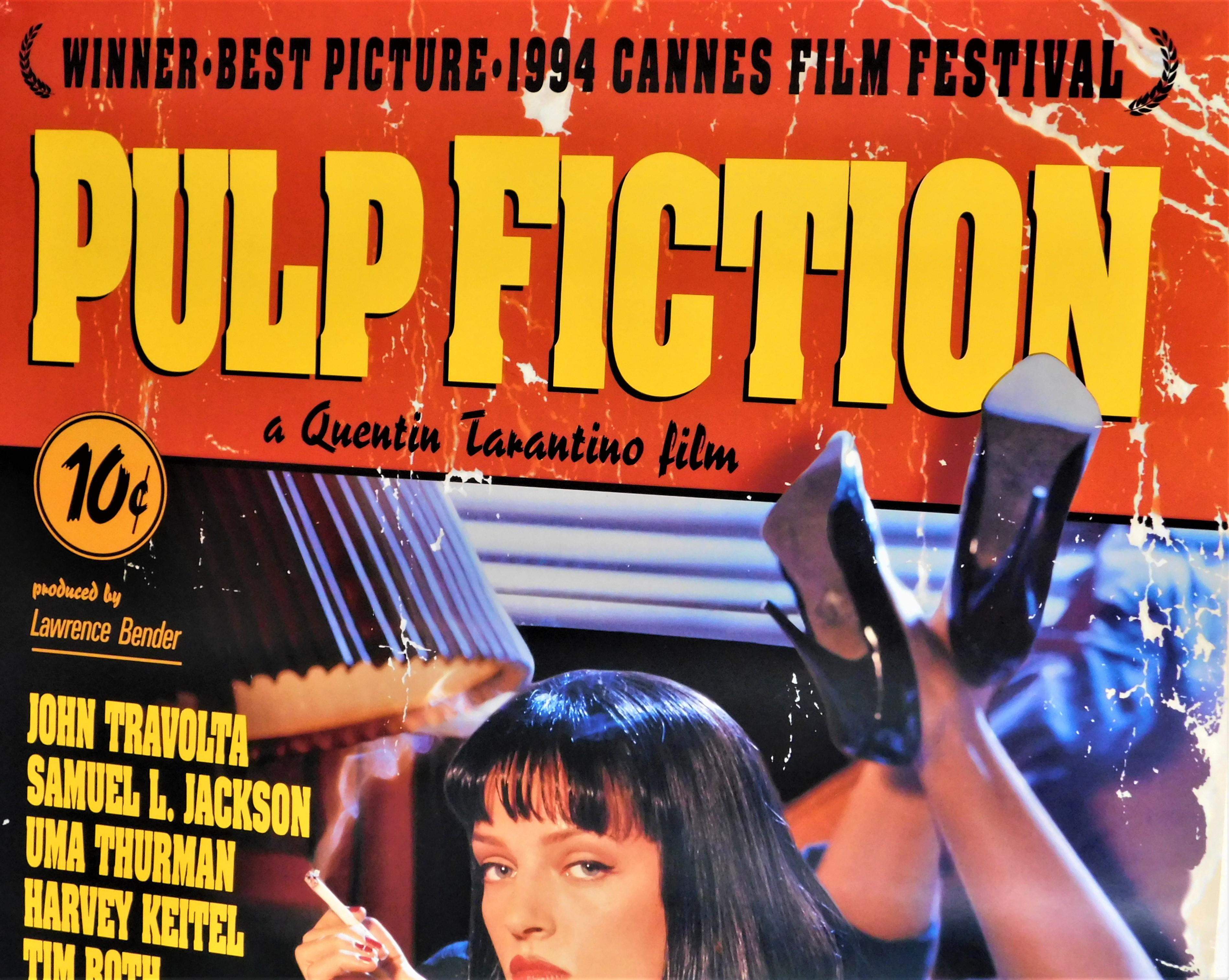 PULP FICTION Movie PHOTO Print POSTER Film Art Quentin Tarantino Uma Thurman 006