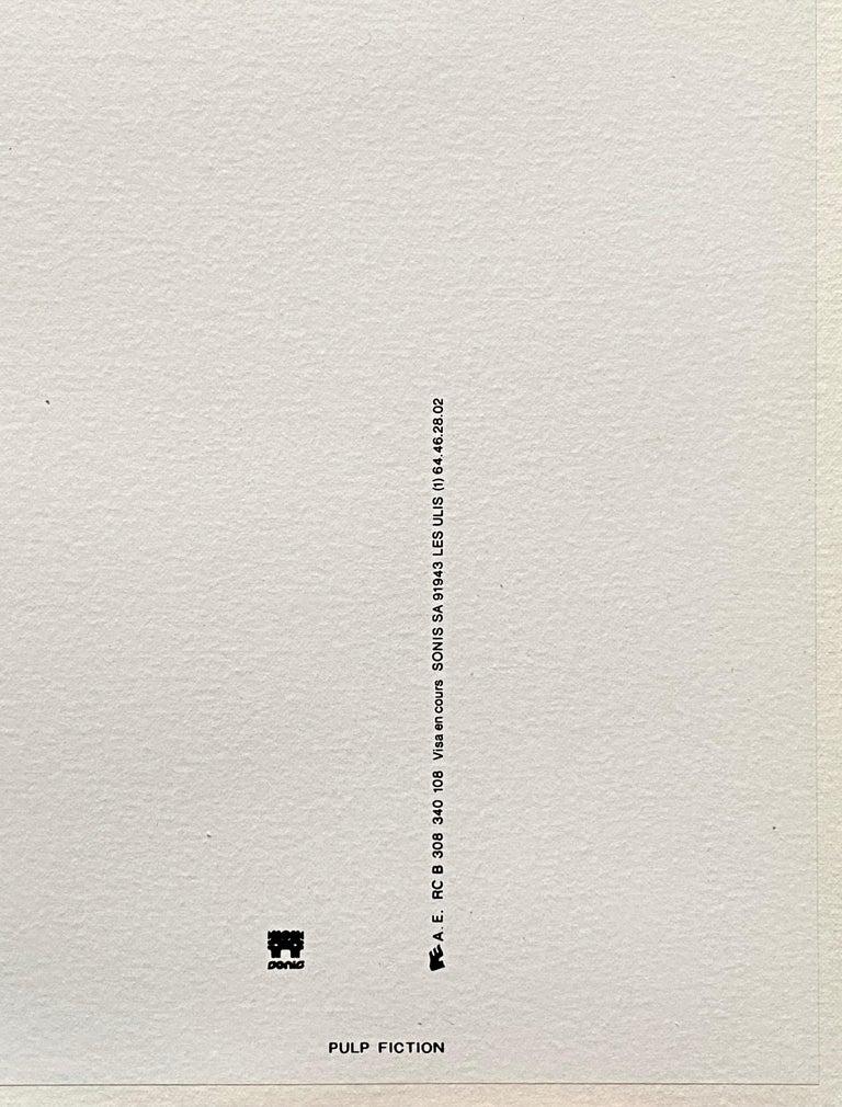 'Pulp Fiction' Original Vintage French Movie Poster by Bernard Bittler, 1994 For Sale 6