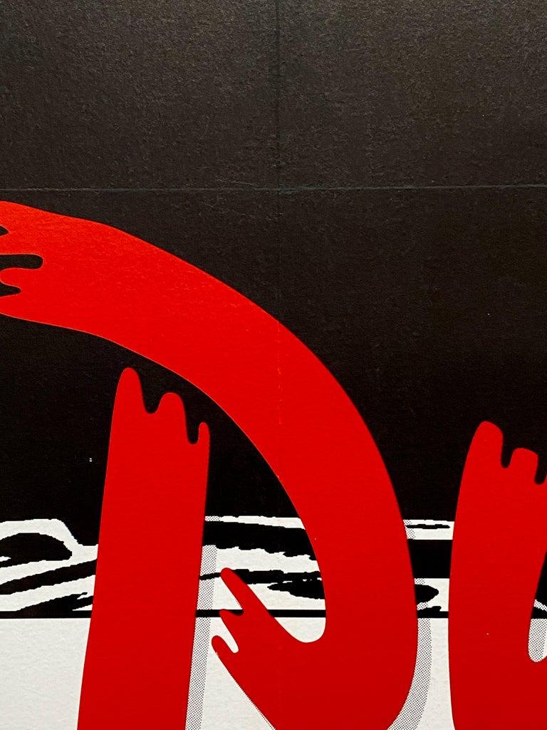Paper 'Pulp Fiction' Original Vintage French Movie Poster by Bernard Bittler, 1994 For Sale
