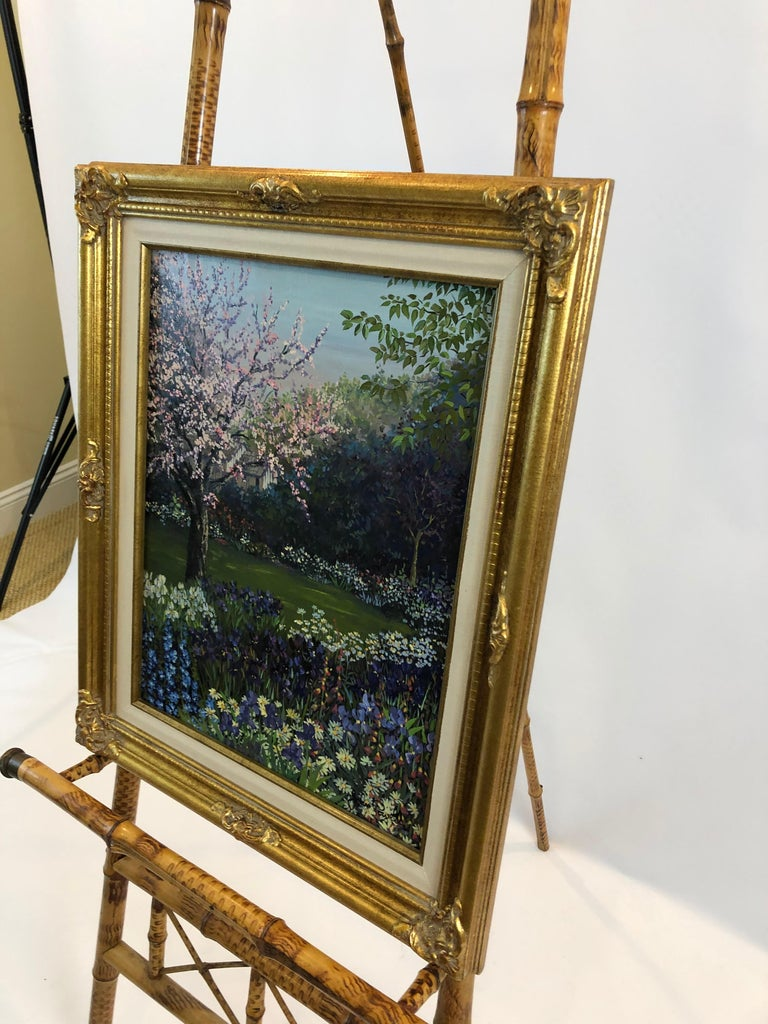 Pulsatingly Alive Garden Landscape Painting by John Powell For Sale 1