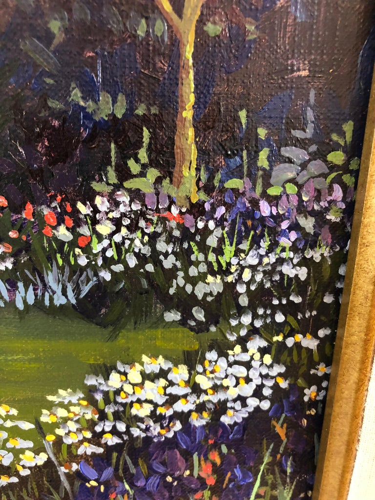 Pulsatingly Alive Garden Landscape Painting by John Powell For Sale 3