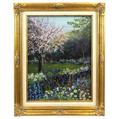 Pulsatingly Alive Garden Landscape Painting by John Powell