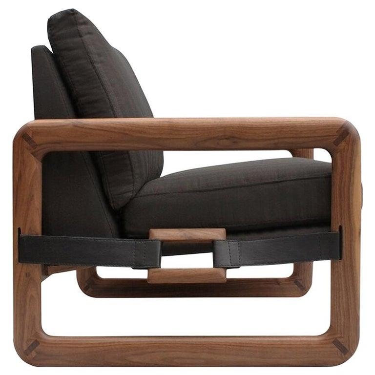 Pulse Walnut Armchair For Sale