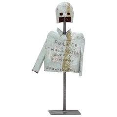 """Pulver"" Helmet & Jacket Sculpture by Patrick Fitzgerald"