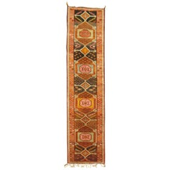 Pumpkin Color Vintage Turkish Anatolian Runner