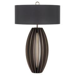 Pumpkin Large Table Lamp in Metal Base by Roberto Cavalli Home Interiors