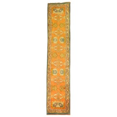 Pumpkin Orange Antique Oushak Runner