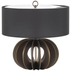Pumpkin Small Table Lamp in Metal Base by Roberto Cavalli Home Interiors