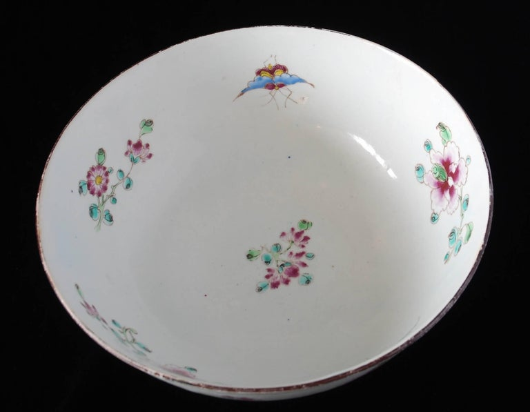Punch Powl, Bow Porcelain Factory, circa 1755 For Sale 4