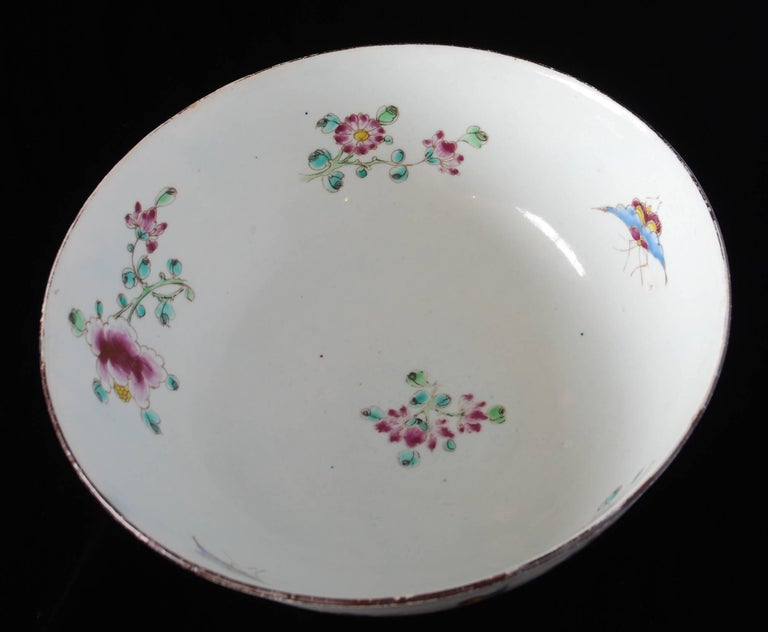 Punch Powl, Bow Porcelain Factory, circa 1755 For Sale 5