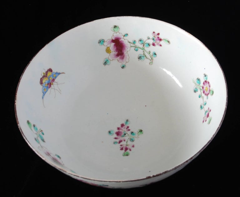 Punch Powl, Bow Porcelain Factory, circa 1755 For Sale 6