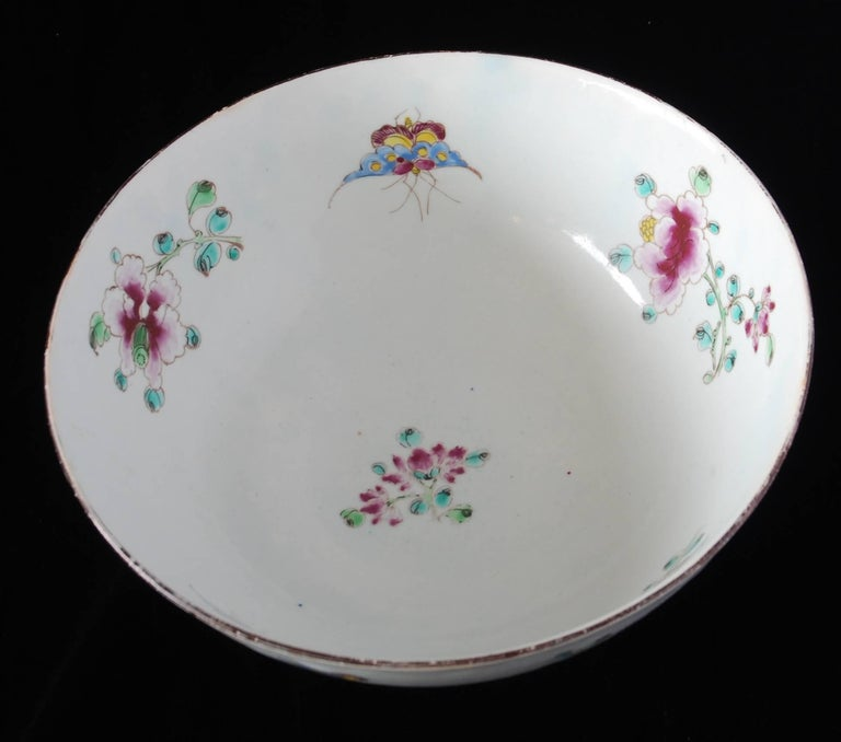 Punch Powl, Bow Porcelain Factory, circa 1755 For Sale 7