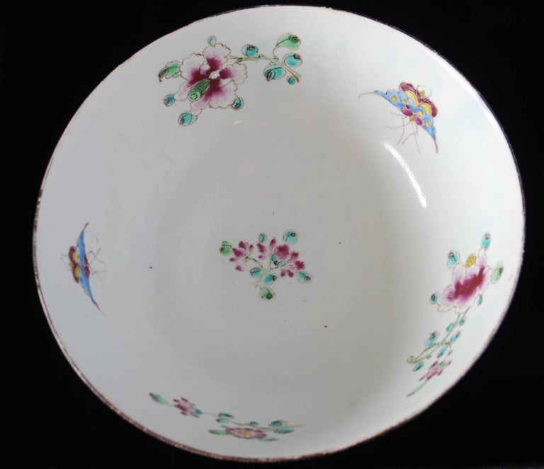 Punch Powl, Bow Porcelain Factory, circa 1755 For Sale 8