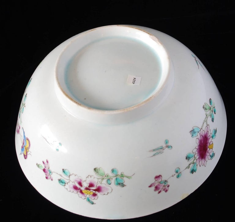 Punch Powl, Bow Porcelain Factory, circa 1755 For Sale 9