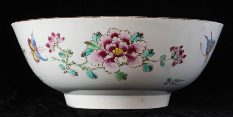 Punch Powl, Bow Porcelain Factory, circa 1755 In Excellent Condition For Sale In Melbourne, AU