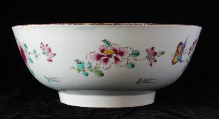 Punch Powl, Bow Porcelain Factory, circa 1755 For Sale 1